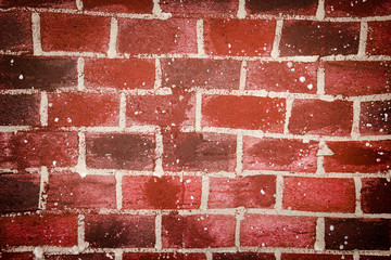 Brick wall made by foam sheet.