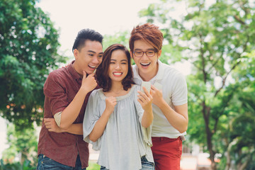 Laughing young people