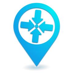 point de rassemblement sur symbole localisation bleu