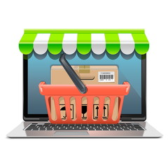 Vector Computer Shopping Concept