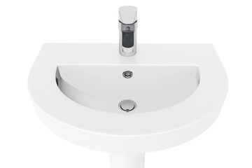 Washbasin with Chrome faucet