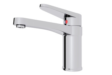 Chrome water supply faucet