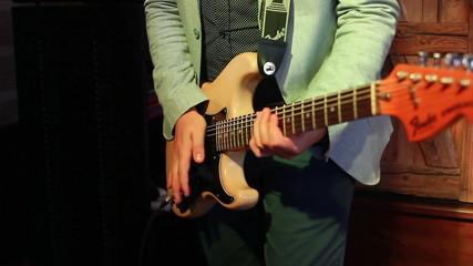 eccentric guitarist on stage