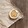 Raw Organic wheat grain