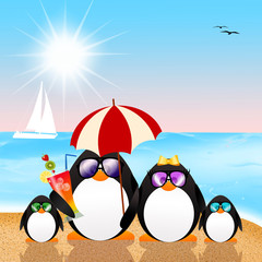 penguins on vacation