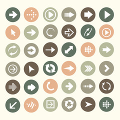 Arrow buttons color vector