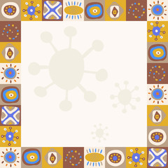 Abstract background with ethnic ornaments simple