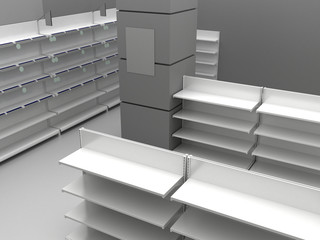 Illustration of empty store
