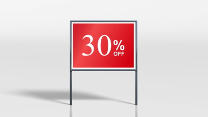 shop signage stand discount up