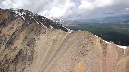 Stock Video Footage Aerial View Alpine Flying Ridge quite near