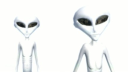 Alien on a bright white background
