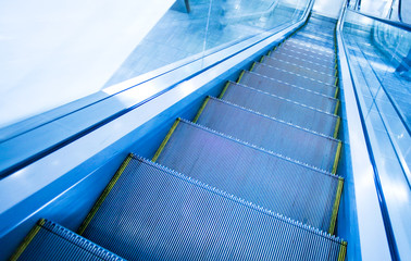 Escalator and stairway outside of the business building