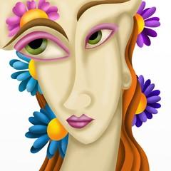 viso di donna astratto
