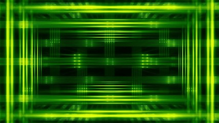 abstract loop motion background, green light, frame