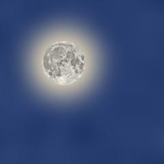Moon on a cloudy sky.