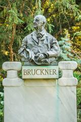 Bruckner bust in Stadtpark, Vienna