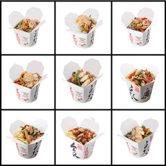 Japanese cuisine. collage on white background