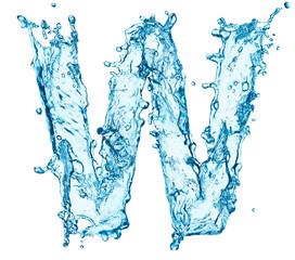 Water splashes letter