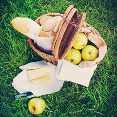 Fresh Bread, Apples in a Wattled Basket