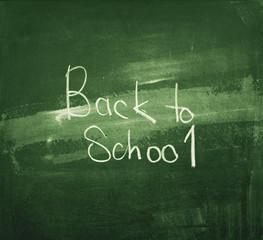 Metaphor Back to School on Dirty Green Blackboard