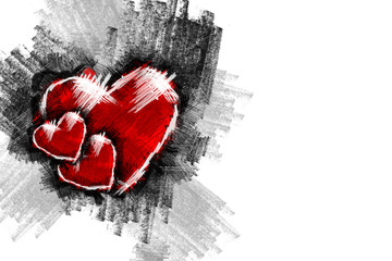 Heart pancil 16