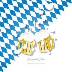 In love beer Oktoberfest 2014 background vector