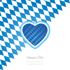 Oktoberfest heart white background vector