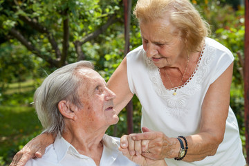 Elderly couple enjoying life together