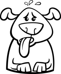dog in heat cartoon coloring page