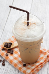 .iced blended frappucino