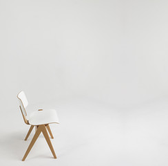 white chair in white room