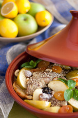 tagine of duck and apple