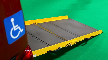 Disabled car ramp. Focus change