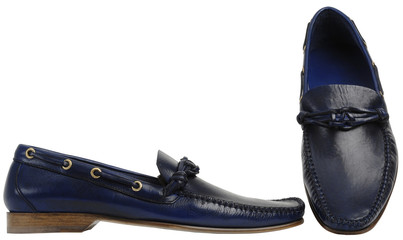 Blue male shoes