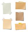 canvas print picture - note paper piece label vintage grunge tape