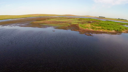 Danube delta national park, aerial view