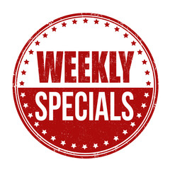 Weekly specials stamp