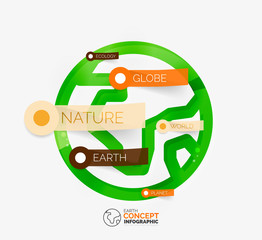 Eco Earth globe infographic concept