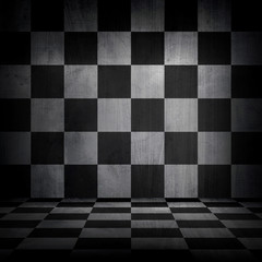 checkered metal background