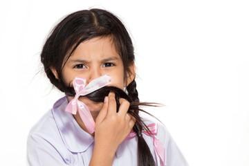 Schoolgirl gagged