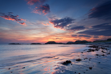 Iona, Scotland : sunset on the beach