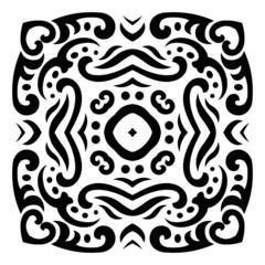 Abstract vector mehndi tattoo ornament