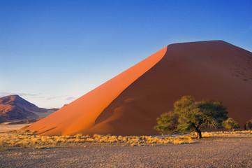 Sunset dunes of Namib desert, Sossusvlei, Namibia