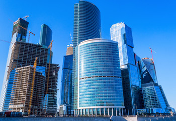 Skyscrapers of business center in Moscow