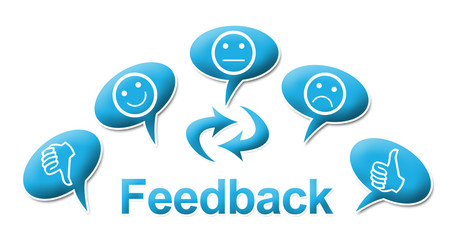 Feedback With comments Symbols Blue