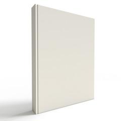 White empty book