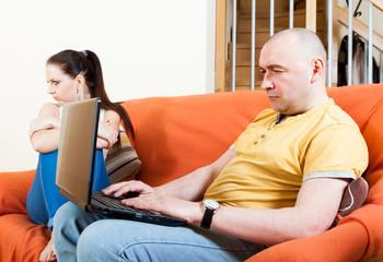 quarrel of woman and  man