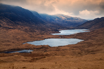 Loch Sguabain and Loch Airdeglais, Isle of Mull, Scotland