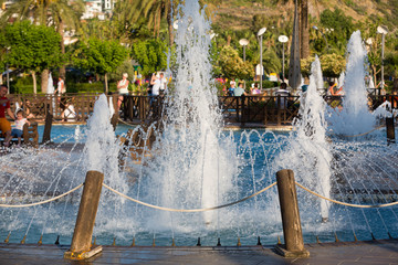 Alanya -  Damlatas fountains park near Clepatra beach