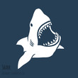 Danger Shark silhouettes set. - 68249551